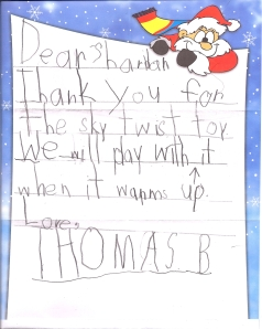 Thank you letter from the great Thomas B